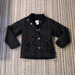 Girls black winter coat Sz 10/12 LG